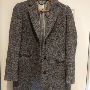 JCREW Oversize Topcoat English Herringbone Wool si